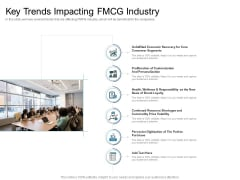 Cross Selling Initiatives For Online And Offline Store Key Trends Impacting FMCG Industry Introduction PDF