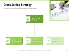 Cross Selling Of Retail Banking Products Cross Selling Strategy Ppt Gallery Layouts PDF