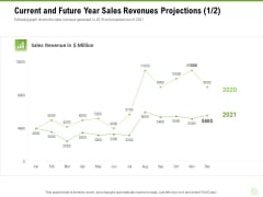 Cross Selling Of Retail Banking Products Current And Future Year Sales Revenues Projections Graph Ppt Visual Aids Backgrounds PDF