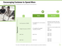 Cross Selling Of Retail Banking Products Encouraging Customer To Spend More Ppt Professional Example File PDF