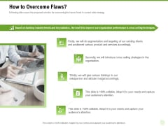 Cross Selling Of Retail Banking Products How To Overcome Flaws Ppt Show PDF