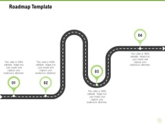 Cross Selling Of Retail Banking Products Roadmap Template Ppt Model Slides PDF