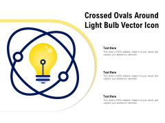 Crossed Ovals Around Light Bulb Vector Icon Ppt PowerPoint Presentation Slides Example