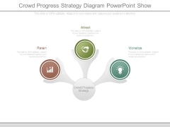 Crowd Progress Strategy Diagram Powerpoint Show