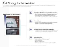 Crowd Sourced Equity Funding Pitch Deck Exit Strategy For The Investors Ideas PDF