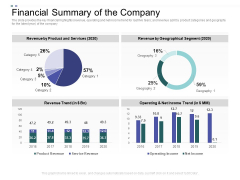 Crowd Sourced Equity Funding Pitch Deck Financial Summary Of The Company Ppt File Demonstration PDF