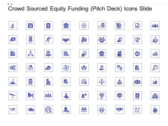 Crowd Sourced Equity Funding Pitch Deck Icons Slide Download PDF