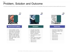 Crowd Sourced Equity Funding Pitch Deck Problem Solution And Outcome Pictures PDF