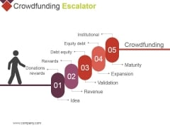 Crowdfunding Escalator Ppt PowerPoint Presentationmodel Brochure