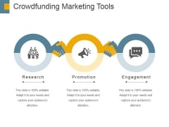 Crowdfunding Marketing Tools Ppt PowerPoint Presentation Outline Pictures