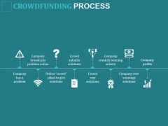 Crowdfunding Process Ppt PowerPoint Presentation Icon Vector