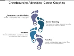 Crowdsourcing Advertising Career Coaching Ppt PowerPoint Presentation Gallery Deck