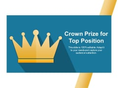 Crown Prize For Top Position Ppt PowerPoint Presentation Inspiration Visuals