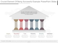 Crucial Element Of Being Successful Example Powerpoint Slides