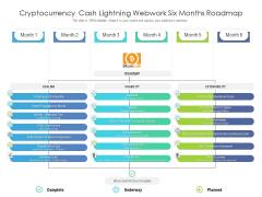 Cryptocurrency Cash Lightning Webwork Six Months Roadmap Portrait
