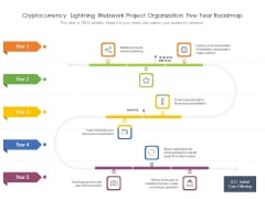Cryptocurrency Lightning Webwork Project Organization Five Year Roadmap Icons