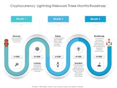 Cryptocurrency Lightning Webwork Three Months Roadmap Brochure