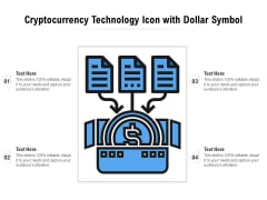 Cryptocurrency Technology Icon With Dollar Symbol Ppt PowerPoint Presentation File Background Image PDF