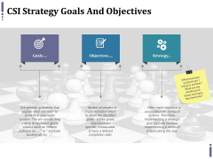 Csi Strategy Goals And Objectives Ppt PowerPoint Presentation File Outfit