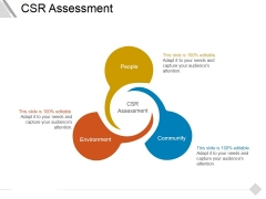 Csr Assessment Ppt PowerPoint Presentation Ideas Brochure