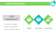 Csr Assessment Ppt PowerPoint Presentation Ideas