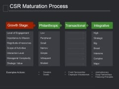 Csr Maturation Process Ppt PowerPoint Presentation Background Images