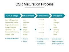 Csr Maturation Process Ppt PowerPoint Presentation Show