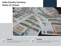 Cuba Country Currency Notes Of 5 Pesos Ppt PowerPoint Presentation Icon Elements PDF