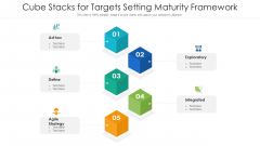 Cube Stacks For Targets Setting Maturity Framework Ppt PowerPoint Presentation File Professional PDF