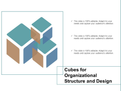 Cubes For Organizational Structure And Design Ppt PowerPoint Presentation Portfolio Master Slide