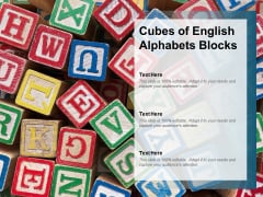 Cubes Of English Alphabets Blocks Ppt PowerPoint Presentation Model Clipart