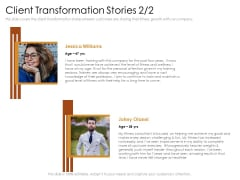 Cultivating The Wellbeing Culture In Organization Client Transformation Stories Slides PDF