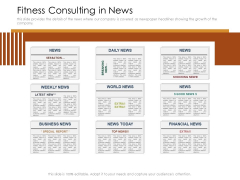 Cultivating The Wellbeing Culture In Organization Fitness Consulting In News Sample PDF