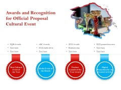 Cultural Event Awards And Recognition For Official Proposal Cultural Event Slides PDF