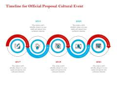 Cultural Event Timeline For Official Proposal Cultural Event Diagrams PDF