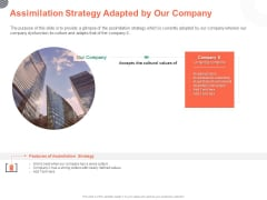Cultural Integration In Company Assimilation Strategy Adapted By Our Cultural Integration In Company Ppt PowerPoint Presentation Summary Slideshow PDF