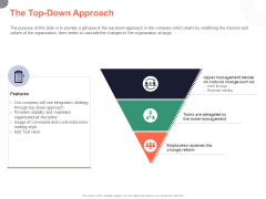 Cultural Integration In Company The Top Down Approach Ppt PowerPoint Presentation Icon Aids PDF