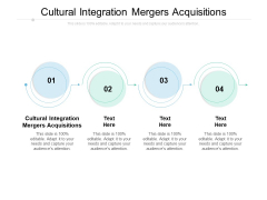 Cultural Integration Mergers Acquisitions Ppt PowerPoint Presentation Styles Display Cpb