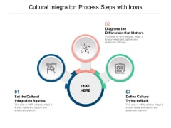 Cultural Integration Process Steps With Icons Ppt PowerPoint Presentation Styles Visual Aids