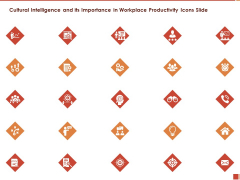 Cultural Intelligence And Its Importance In Workplace Productivity Icons Slide Summary PDF