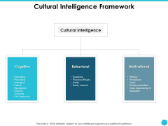 Cultural Intelligence Framework Ppt PowerPoint Presentation Slides Layouts