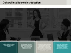 Cultural Intelligence Introduction Ppt PowerPoint Presentation Model Background Image