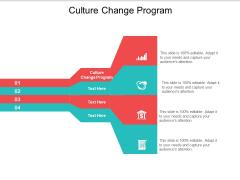 Culture Change Program Ppt PowerPoint Presentation Infographic Template Elements Cpb