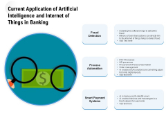 Current Application Of Artificial Intelligence And Internet Of Things In Banking Ppt PowerPoint Presentation Model Graphic Tips PDF