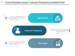 Current Business Issues Customer Perspective And Market Risk Ppt Powerpoint Presentation Icon Background Image