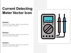 Current Detecting Meter Vector Icon Ppt PowerPoint Presentation Introduction