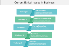 Current Ethical Issues In Business Ppt PowerPoint Presentation Show Display