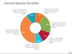 Current Quarter Portfolio Template 2 Ppt PowerPoint Presentation Designs