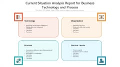 Current Situation Analysis Report For Business Technology And Process Ppt Styles Graphics Example PDF