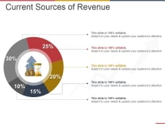 Current Sources Of Revenue Ppt PowerPoint Presentation Gallery Information